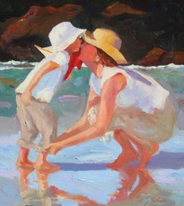 Don't Go Far an original oil painting by Cathryn Hatfield , Cathy Hatfield
