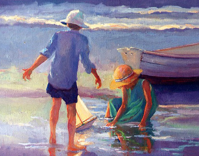 Late July, an original oil painting by Cathryn Hatfield