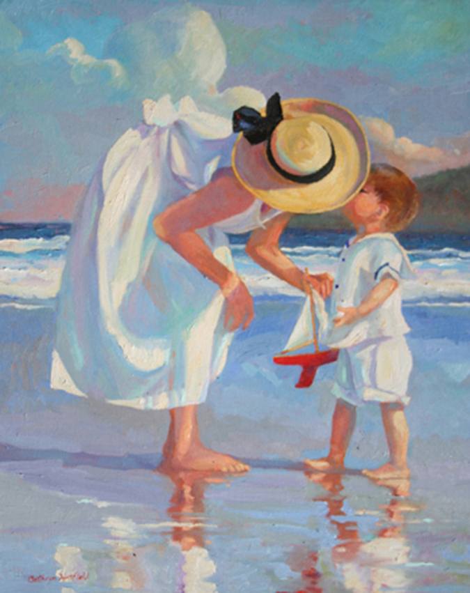 First Love an original oil painting by california artist Cathy Hatfield